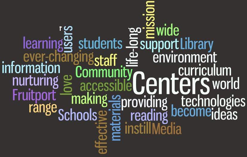 Wordle art with words describing the LMC's mission